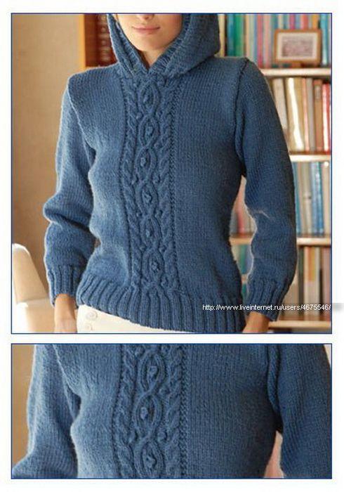 Пуловер с капюшоном.. Обсуждение на LiveInternet - Российский Сервис Онлайн-Дневников