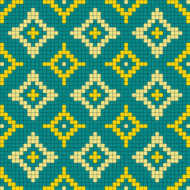 Old Wallpaper Perler Bead Pattern | Bead Sprites | Simple Fuse Bead Patterns