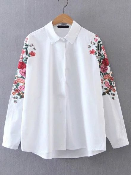 Shop Batwing Sleeve Embroidered Tunic Blouse online. SheIn offers Batwing Sleeve Embroidered Tunic Blouse & more to fit your fashionable needs.