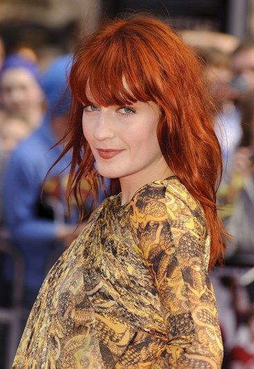 Celebrity red hair: Florence Welch with red hair