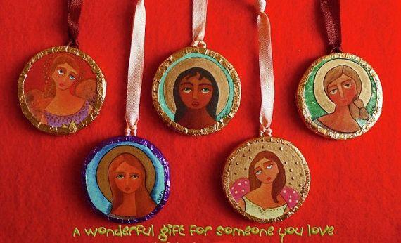 Quodlibet en miniature. Christmas ornaments. print by rorocoptic