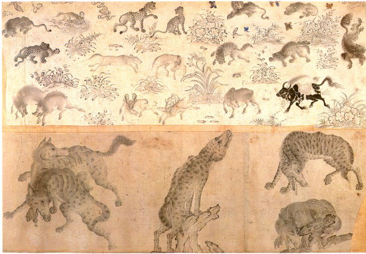 Animal Studies  Siyah Qalem school.  From the Sarai Albums.  Persia, end of 15th century