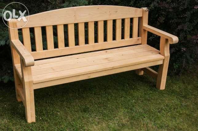 3 000 zł: Przedmiotem aukcji jest:   Komplet mebli ogrodowych (stół + 2 ławki) wykonanych z drewna olchy   Meble masywne,  starannie i estetycznie wykonane z dbałością o każdy szczegół. Połączenia elementów na ...