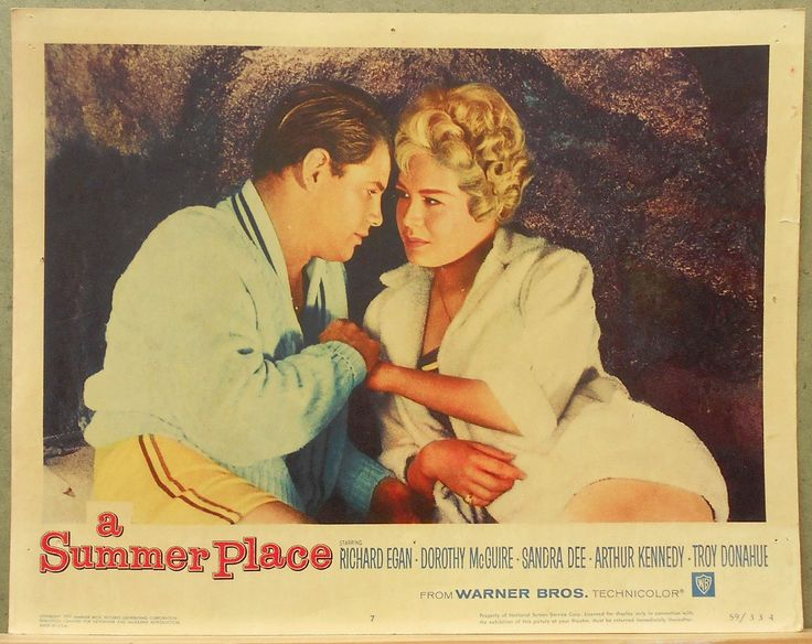 LCJ 493 A SUMMER PLACE SANDRA DEE TROY DONAHUE Original US Lobby Card | eBay