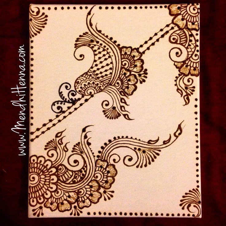 8x10 henna canvas wall decor www.MendhiHenna.com   Instagram MendhiHennaArtist www.facebook.com/MendhiHennabridalparties