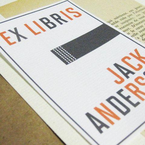 Personalized Bookplate  Bauhaus Style by nancynikkodesign