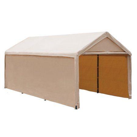 Abba Patio 10 x 20-Ft Heavy Duty Beige Domain Carport, Car Canopy Versatile Shelter with Sidewalls