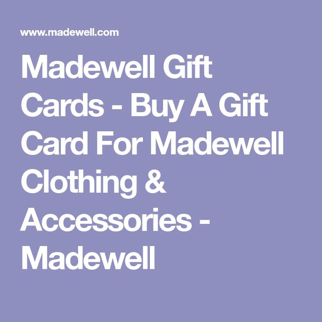 Madewell Gift Cards - Buy A Gift Card For Madewell Clothing & Accessories - Madewell