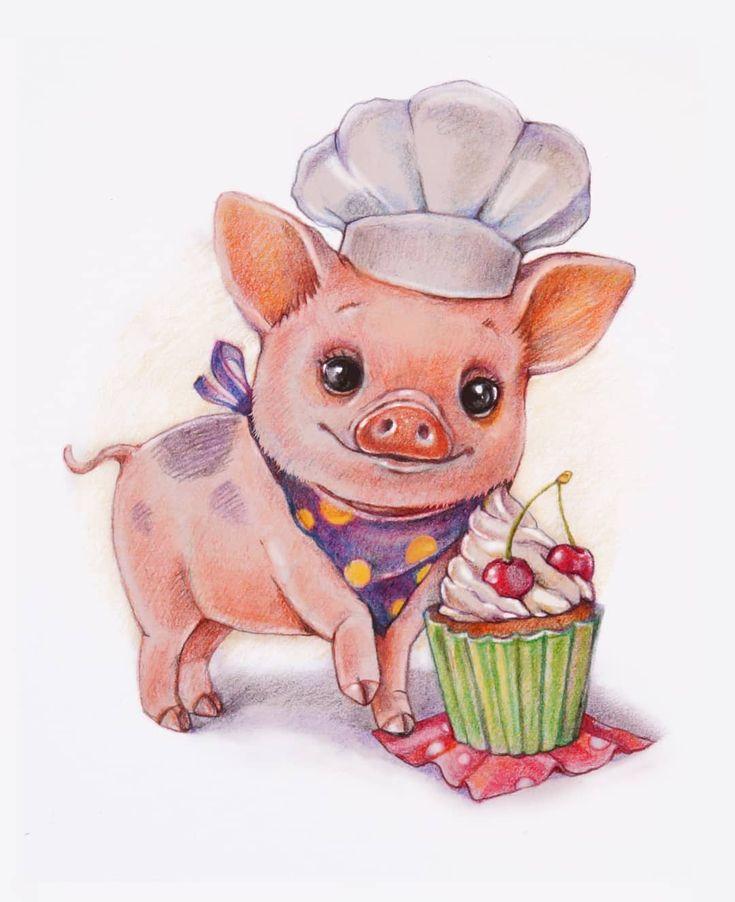 Свинья картинка смешная рисованная, картинки разные