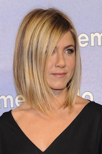 Jennifer Aniston's angled bob