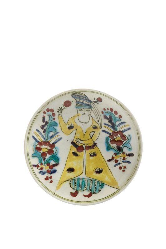 Lot : COUPELLE DE KUTAHYA DU XVIII SIÈCLE en céramique siliceuse, à la «Jeune[...] | Dans la vente Arts d'Orient et Orientalisme à Millon et Associés Paris