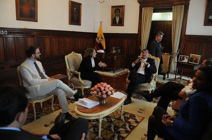 Visita Protocolaria de Rebeca Grynspan, economista y ex Vicepresidenta de Costa Rica, Secretaria General Iberoamericana