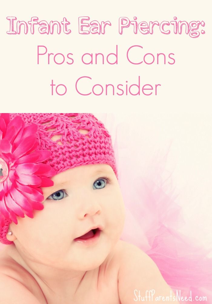 Thinking about infant ear piercing? Here are some of the pros and cons I discovered as I tried to figure out whether or not to get my baby's ears pierced.