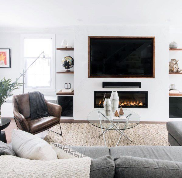 Top 70 Best Tv Wall Ideas Living Room Television Designs In 2021 Living Room With Fireplace Trendy Living Rooms Living Room Tv