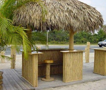 Beautiful Tiki Bar Roof Material