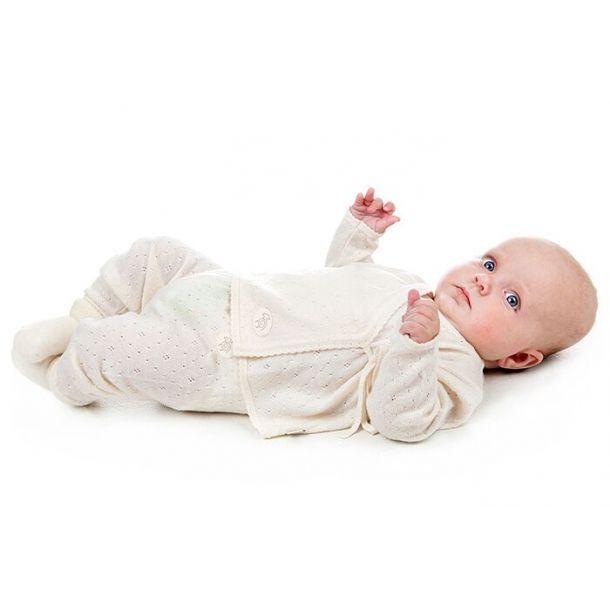 Lillelam Babybukse Ull Hvit