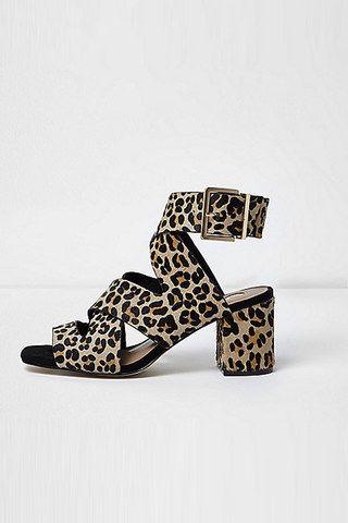 Sandales imprimé léopard River Island