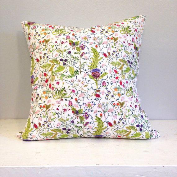 Throw Pillow Cover Botanical print by strawberrysnail on Etsy