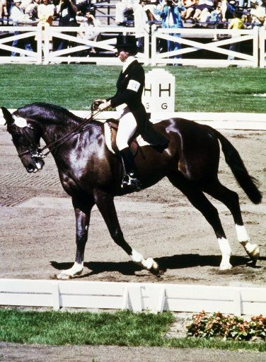 Princess Anne during the 1976 Olympics in Montreal.