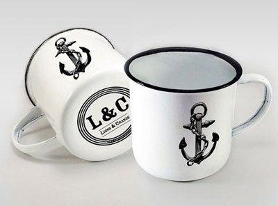 Enamel Mug 2-Pack via Lions