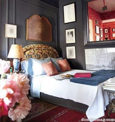 dark bedroomWall Colors, Grey Bedrooms, Small Room, Gray Bedroom, Grey Wall, Painting Colors, Dark Bedrooms, Gray Wall, Dark Wall