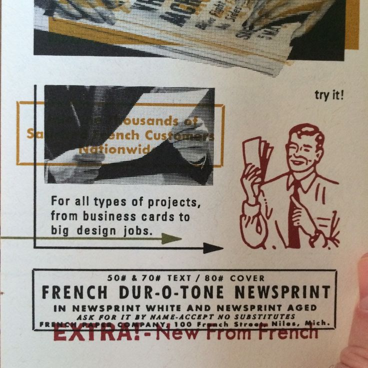 Dur-o-tone French Utility Paper product manuals from Charles S. Anderson Design…