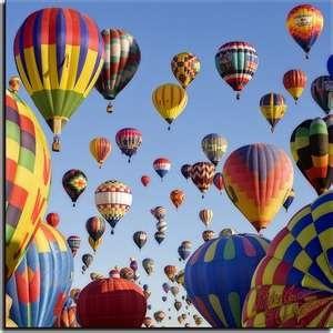 Hot Air Balloons Over Battle Creek, Michigan