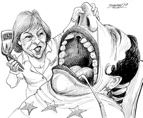 Petar Pismestrovic - Kleine Zeitung, Austria - Dentist - English - Theresa May, Great Britain, EU, Europe, Brexit, London, Politic, USA, Refufees