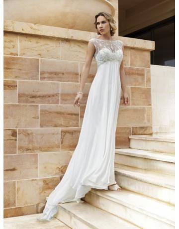 Áčkový střih Délka dvorní Šifón Svatební šaty 2013