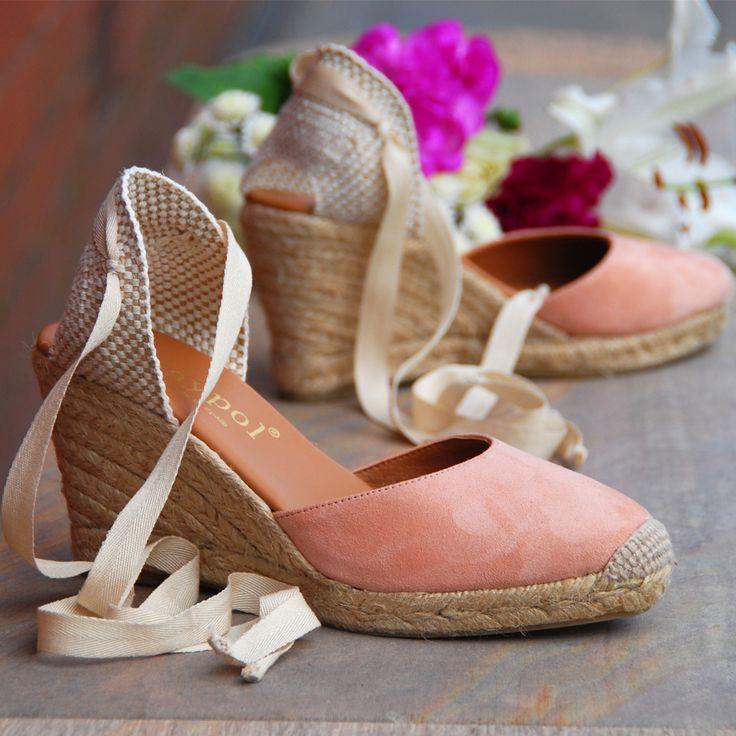 espadrille.co.uk|Pink Ankle Tie Wedge Espadrille|Ladies Wedge Sandals                                                                                                                                                                                 More