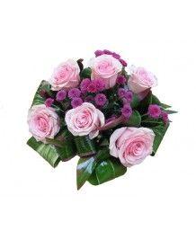 Cosuri de flori Cos de trandafiri roz