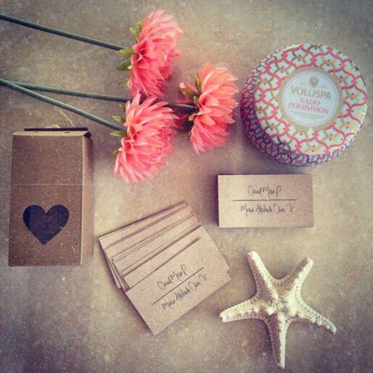 Tarjetas personales · para marcar tus regalos