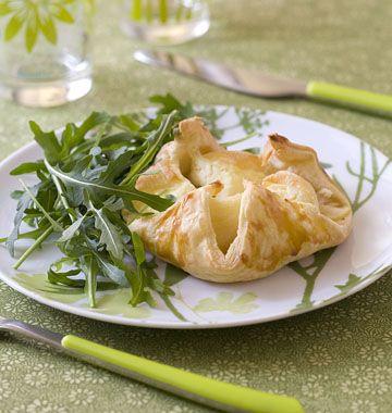 Feuilleté au fromage de chèvre et pommes - les meilleures recettes de cuisine d'Ôdélices