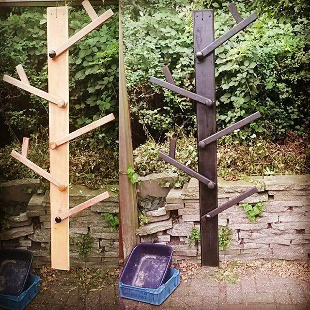 Kapstok van afvalmateriaal #selfmade #kapstok #ttproductie #zwart