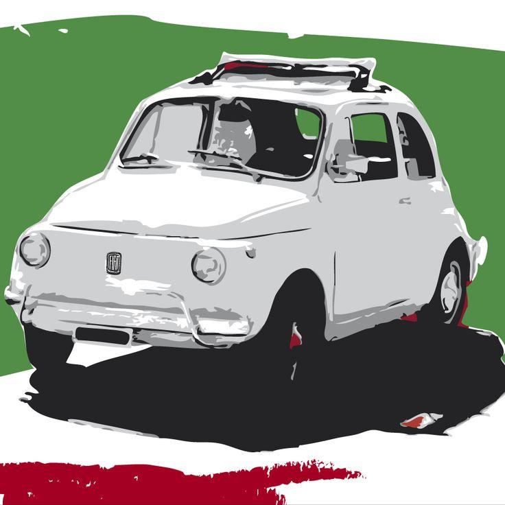 FIAT 500 - Giorgio Terranova - pannello decorativo - Acrilico su tavola