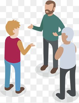 Three People Talking Vector Png Three Person Dialogue Discuss Png Transparent Clipart Image And Psd File For Free Download Png People Png Vector