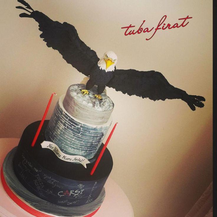Bjk futboll team cake by tuba firat