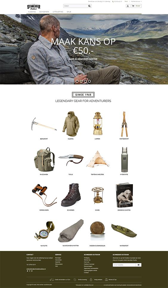 #ShopwareDesign #ShopwareTheme #ShopwareShop #eCommerce #eCommerceSoftware #eCommerceplatform #Onlineshop #Outdoor #Equipment