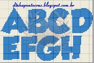 Ateliê Ponto & Patch: Galinha Pintadinha e Monograma em Ponto Cruz