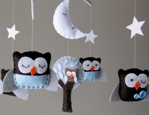 I love this mobile idea.  Owls are for sleeping..