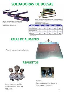 COBEPAN.ES maquinaria y accesorios para Panaderia y Pasteleria.: soldadoras bolsas, palas aluminio, repuestos