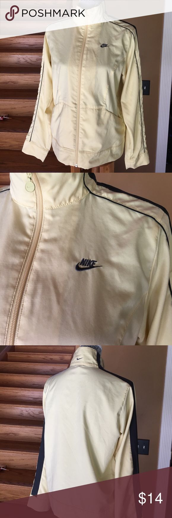 Yellow Nike running jacket Lite Yellow Nike running jacket size medium excellent condition worn a handful of times Nike Jackets & Coats