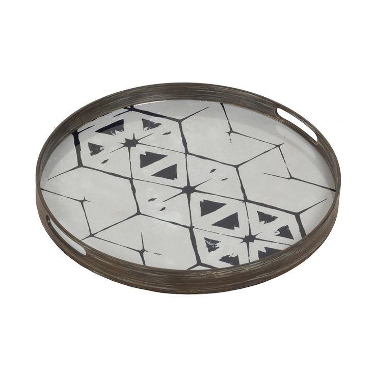 Buy Notre Monde Tribal Hexagon Glass Tray | Amara