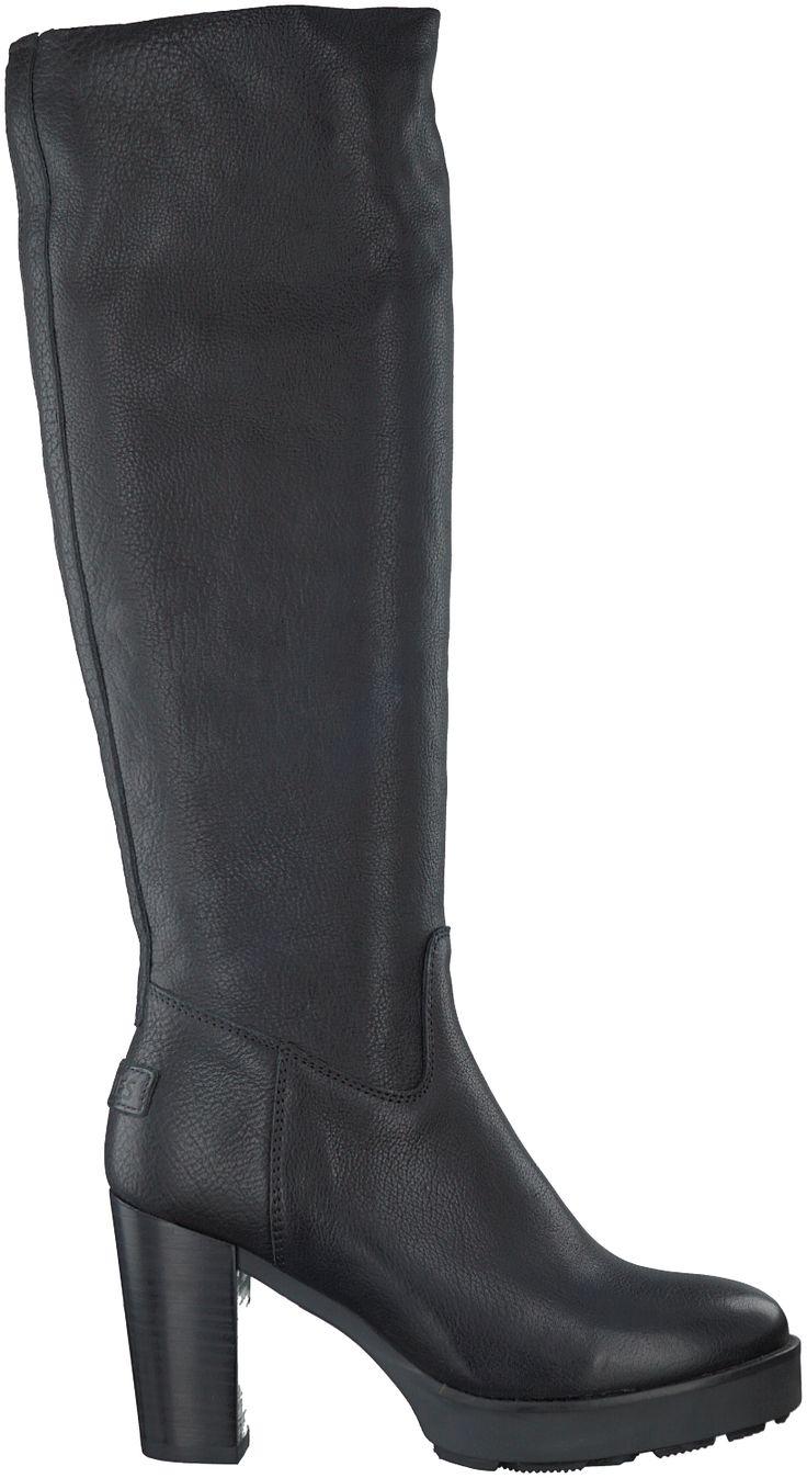 Zwarte Shabbies Lange laarzen 228134