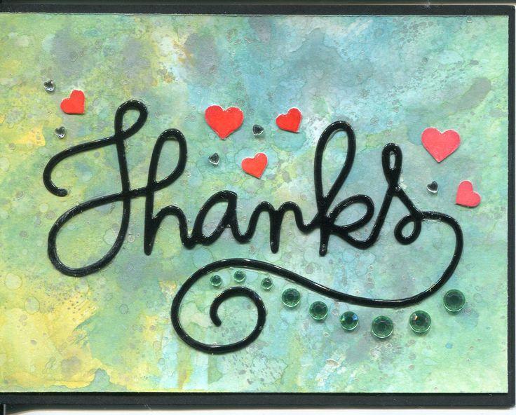 Kiitos-kortti Distressoxide tausta