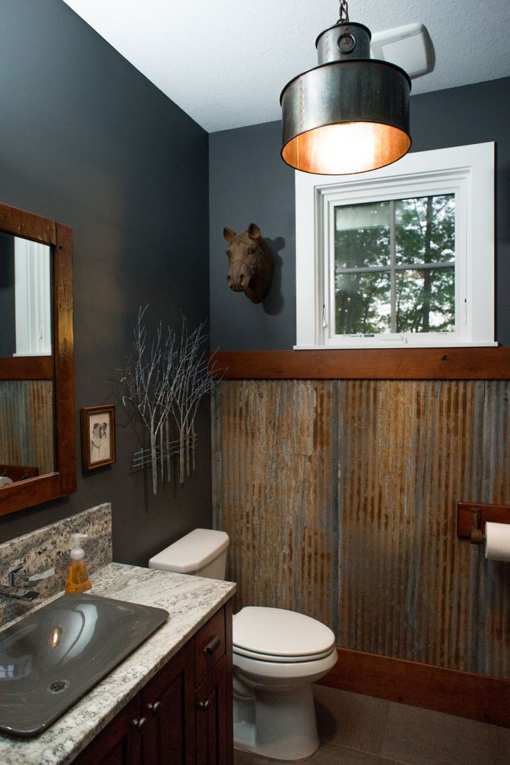 Gauntlet Gray Sherwin Williams Rustic Bathroom