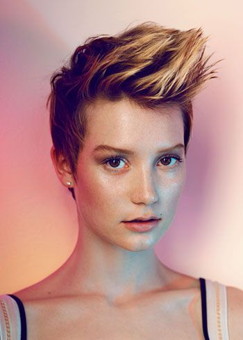 My hair is cut like this! A little bit longer on the sides, but the same basic style. I LOVE it!!!
