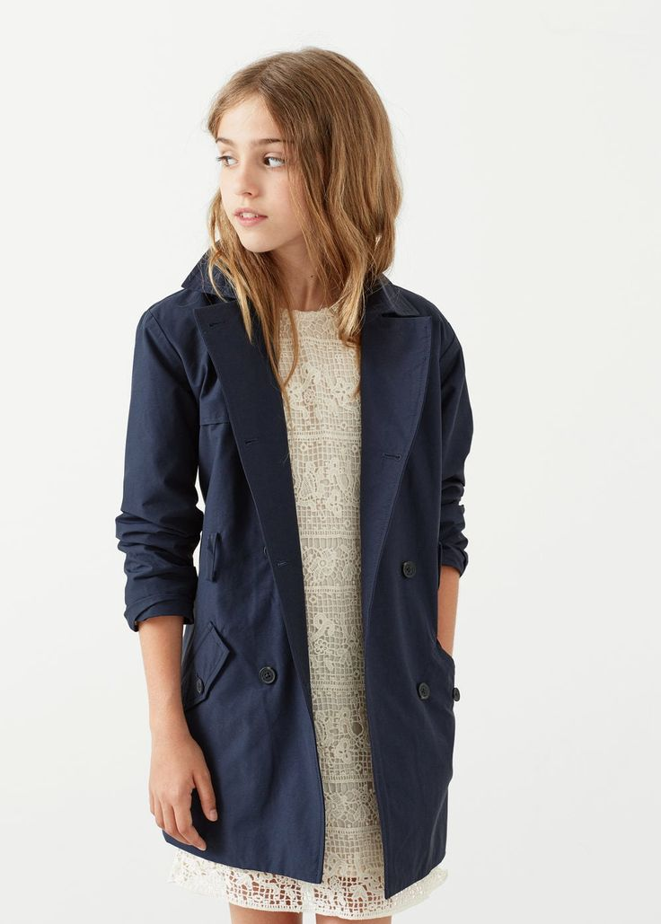 Nylon cotton trench