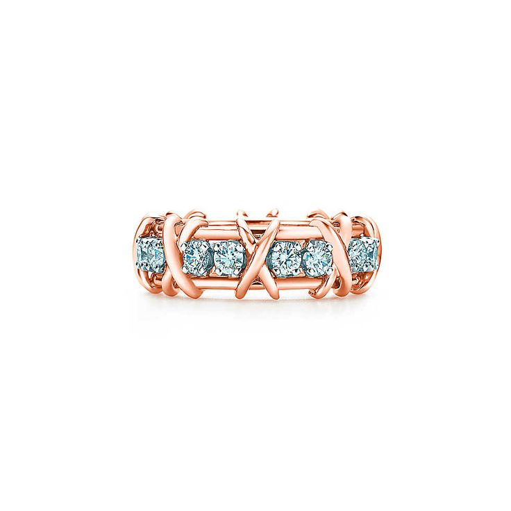 Tiffany & Co. Schlumberger® Sixteen Stone ring in 18k rose gold with diamonds. | Tiffany & Co.