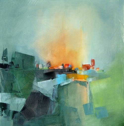 Oil paintings by Gérard Mursic.